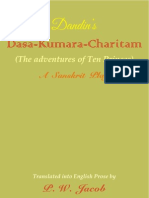 Dasakumara Charitam of Dandi - English (the Adventures of Ten Princes)
