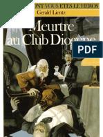 Sherlock Holmes - 01 Meurtre Au Club Diogène