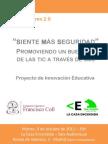 Díptico presentación SMS en La Casa Encendida - Madrid