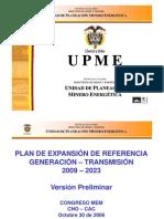 Plan Expansion 2009-2023 UPME