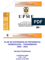 Plan Expansion 2009-2023 UPME