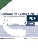 Cartaz Semana Da Leitura 2013