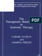 The Therapeutic Relationship in Systemic Therapy Systemic Thinking and Practice Series