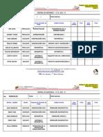 Control de Asistencia Diario Prof.personalizada MARTES
