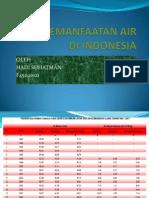Data Pemanfaatan Air