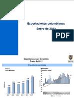 2012 Informe Exportaciones ENE