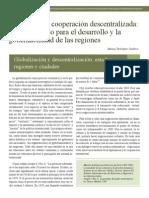 Diplomacia y cooperación descentralizada