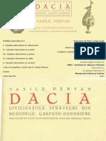 Vasile Parvan Dacia Civilizatiile Strvechi Din Regiunile Carpatodanubiene