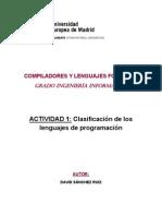 CLF-Clasificación de lenguajes de programación