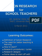 Action Research for Shool Teachers - 110305