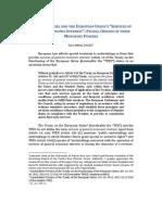 "PUBLIC UTILITIES AND THE EUROPEAN UNION'S ""SERVICES OF GENERAL ECONOMIC INTEREST"""