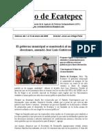 Noticias Del 1 Al 15 de Enero 2009