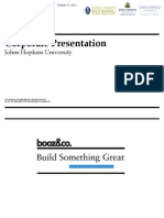 Booz Co. Corporate Presentation Johns Hopkins