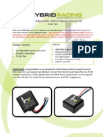 K-Series Speed Converter Install Guide Ver 2.0