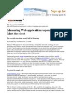 Measuring Web application response time