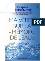 Jacques Benveniste - Ma v Rit Sur La M Moire de l Eau