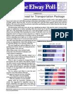 Elway Poll 030413 Transportation