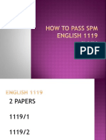 How to Pass Spm English 1119