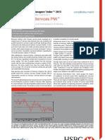130305 HSBC China Services February 2013 PMI - Report