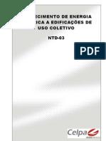 NTD-03 - Fornecimento de Energia Elétrica a Edificações de Uso Coletivo (Celpa)