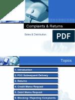 Complaints & Returns