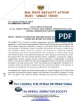 Kenya 2013 General Elections for Enduring Collective Peace, Security & Stability - GREAT Trust, Council for Afrika Int & Afrika Liberation Society Joint Press Statement