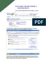 Experiencia Del Uso de Gmail y Google Docs laviña y tomey