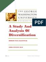 A Study and Analysis of Diversification - Robert Paul Ellentuck