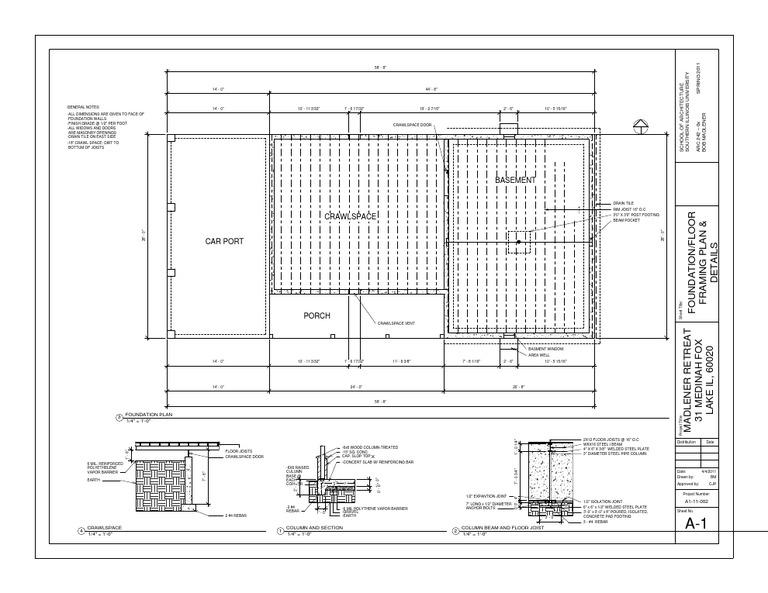 Foundation Floor Framing Plan And Details