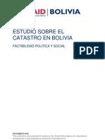 Estudio Sobre El Catastro en Bolivia