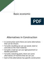 Basic engineering Economic