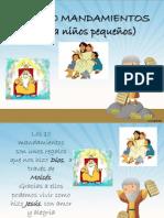 Los 10 mandamientos para niños pequeños Ia