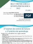 Entrevista psicológica clase 2-2012