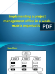 Implementing a Project Management Office in a Weak-matrix
