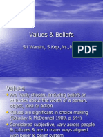 Values and Belief