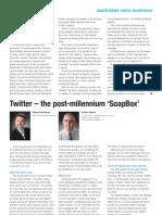 Twitter – the post-millennium 'SoapBox'