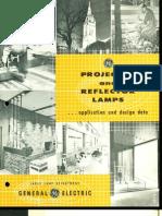 GE Projector & Reflector Lamp Application & Design Brochure 1959