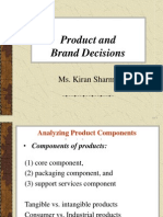 Product and Brand Decision