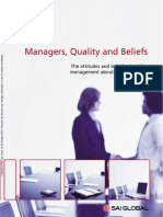 Managers, Quality & Beliefs