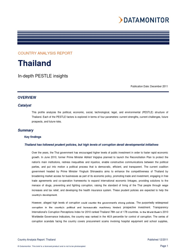 thailand pest analysis Pest list database in thailand natthaporn uthaimongkol wipada plodkornburee pest risk analysis section market access pra import conditions for export the plant quarantine research group.
