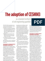 The Adoption of CESMM 3