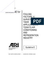 ARI Guide Line 97 for Fouling Factor Applications