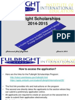 Presentation on Fulbright Application-2014-2015