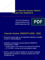 Haemodialysis Vascular Access Recent Trends From ANZDATA