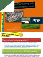 Pengaruh Konversi Lahan Pertanian Pada Ketahanan Pangan Nasional Ppt 1