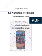 RUBIO TOVAR - La Narrativa Medieval