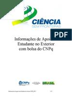 Informações de apoio ao Estudante no Exterior CNPq 2012 07 02 v4
