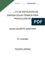 Proyecto Energia Solar 27flats Toledo Spain March2010