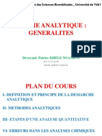 Generalites Chimie Analytique s3