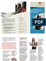 Example of an  Acceptable Use Policy AUP Brochure - Ethical/Legal Policy For  Adult Students